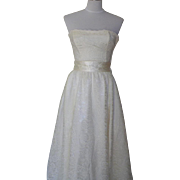 1980s Vintage Ivory Lace Wedding / Prom / Party Dress - Gunne Sax