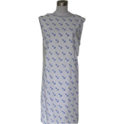 1960s Vintage Cotton Dress with Anchor Design - Vested Gentress