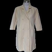 1960s / 1970s Vintage Ivory Knee Length Sweater Coat