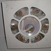 REDUCED Exquisite  Altrohlau Porcelain Factory Czech Republic Set Of Six Opalescent Cups And S