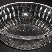 """REDUCED Large Signed Swedish Orrefors Bowl Inverted Marquis Cut 9.25"""""""