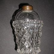 REDUCED Large EAPG Sandwich Glass Whale Oil Lamp 1800s Diamond Pattern