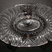 """1881 Duncan & Sons Glass Co. EAPG Shell & Tassel 13.5"""" Oval Platter"""