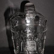 1876 EAPG Gillander & Sons Liberty Bell Centennial Creamer Reeded Applied Handle