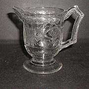 1800s EAPG Minerva Roman Medallion Creamer Boston & Sandwich Glass Co.