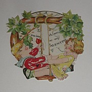 REDUCED Vintage 1900s Hallmark Mechanical Tree Swing Valentine's Day Card Take A Swing With Me