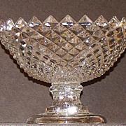 Wonderful Flint 1800s EAPG Early American Pattern Glass Sawtooth Diamond Compote