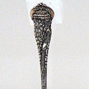 SALE 1800s Amazingly Detailed Mt. Tom Railroad & Summit House Sterling Silver Souvenir Spoon H