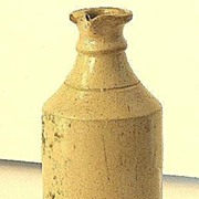 REDUCED Very Scarce Signed Merrill Pottery Co, Akron Ohio Master Ink Stoneware Bottle
