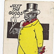 "Early 1900s Black Americana Postcard ""Just The Goods"""