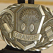 SOLD The National Grange Of The Order Of Patrons Of Husbandry Pewter Belt Buckle