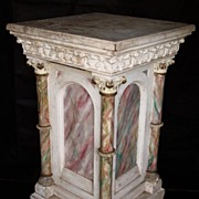 SOLD Daprato Statuary Co. Pedestal Circa. 1900