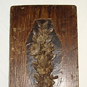 19th Century Architectural Boxwood Mold - Treen Carved Plaster Mold