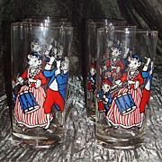 "Rare Set of 6  Bordens "" Elsie ""The Cow Glasses - Original Box"