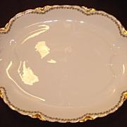 """REDUCED Haviland Limoges China """" Clover Leaf """" Pattern Large Platter"""