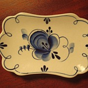 Russian Gzhel Porcelain Factory - Blue & White Butter Pat