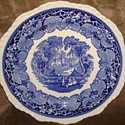 Vintage Masons Ironstone Blue & White Vista Dinner Plate