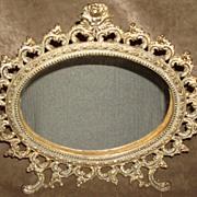 Ornate Victorian Gilt Metal Mirror Circa 1890