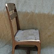 Vintage Wood & Metal Childs School Chair