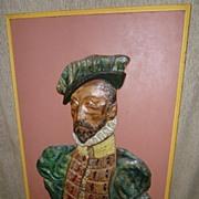 Antique Austrian Glazed Terracotta Tiles Picture - Nobleman