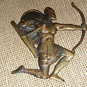 Decorative Brass Archer Plaque