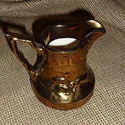 Wade England Copper Luster Pitcher - Running Stag