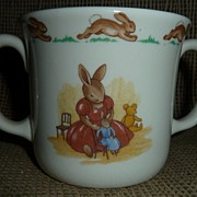 "Royal Doulton "" Bunnykins "" Double Handle Youth Cup"