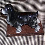 Vintage Porcelain Cocker Spaniel Dog Figurine