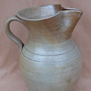 Antique North Carolina Pottery Large Milk Pitcher