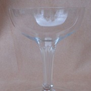 SOLD Cut Crystal Hollow Stem Champagne Glasses
