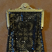 Mandalian MFG Co. USA - Black & Gold Mesh Purse