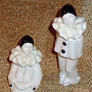 Black & White Pierrot Clown Novelty Perfume Bottles