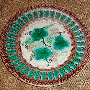 SOLD Majolica Reticulated Plate