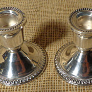 Duchin Creation Sterling Silver Candle Holder Pair