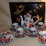 Japanese Imari Tea Set With Lacquer Tray