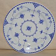 "Furnivals Denmark Blue Flute 10"" Dinner Plates - England"