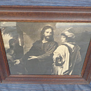 Jesus With Rich Young Ruler - Vintage Print