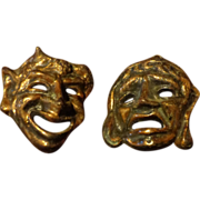 Bronze - Comedy & Tragedy Wall Masks
