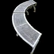 Mid Century Modern Curved Patio Benches - Salterini Tempestini