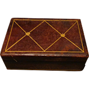 Italian Leather Hand Tooled Vanity Box