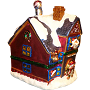 "RARE - Giant ""Radko"" Hand Painted Christmas Village/House - Santa's Workshop"