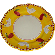Vintage Vietri - Campagna Yellow Chick & Pear Dinner Plate