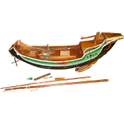 1935 Presentation Ship - Solid Teak - Hand Painted - Chinese Junk