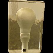 Stockholm Light Bulb Paper Weight - Original Label