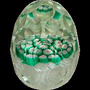 Murano Multi Faceted Art Glass Egg Shaped