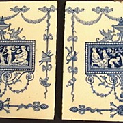 Blue and White Wedgwood Transfer Tiles (2)
