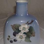 Royal Copenhagen Blackberry Painted Vase