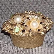 Florenza Jeweled Top Vanity Box
