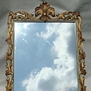 Vintage Gold Gilt Italian Mirror