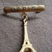Vintage Paris Eiffel Tower Pin